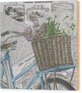 Paris Ride 1 Wood Print