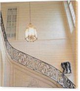 Paris Rodin Museum Staircase - Rod Iron Black Staircase Archictecture - Paris Museum Staircase Print Wood Print