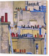 Paris Roof Tops 2 Wood Print