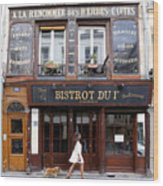 Paris Street Life 2 Wood Print