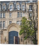 Paris Through Glass 1 Wood Print
