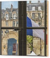 Paris Through Windows 2 Wood Print