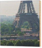 Paris Tour Eiffel 301 Pollution, Pollution Wood Print by Pascal POGGI