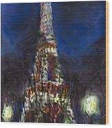 Paris Tour Eiffel Wood Print by Yuriy  Shevchuk