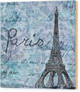 Paris - V01t01a Wood Print
