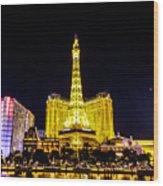 Paris Vegas Wood Print
