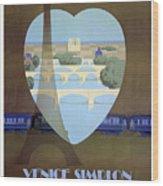 Paris Venice Railway, Orient Express Wood Print
