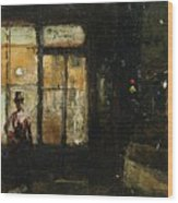 Parisian Boulevard At Night Wood Print