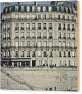 Parisian Building Wood Print