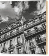 Parisian Buildings Wood Print