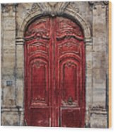 Parisian Door No.49 Wood Print