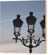 Parisian Lights By Notre Dame Wood Print