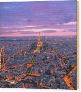 Parisian Nights Paris Wood Print
