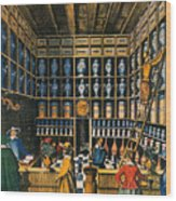 Parisian Pharmacy, 1624 Wood Print