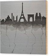 Parisian Skyline Silhouette Wood Print