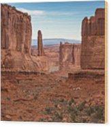 Park Avenue Arches National Park Wood Print