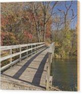 Park Bridge Autumn 2 Wood Print