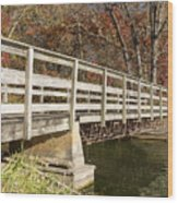 Park Bridge Autumn 3 Wood Print
