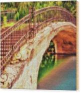 Park Walk Bridge Wood Print
