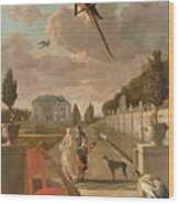 Park With Country House, Jan Weenix, 1670 - 1719 Wood Print