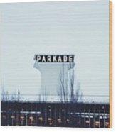 Parkade - Downtown Spokane Wood Print