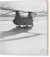 Parked Ch-47 Wood Print