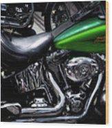 Parked Harleys Wood Print