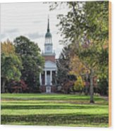 Parker Hall - Hanover College Wood Print