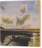Parker's Boatyard II Wood Print