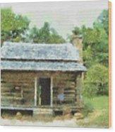 Parkway Cabin Wood Print