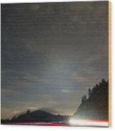 Parkway Lights Wood Print