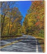 Parkway Road Nc Wood Print