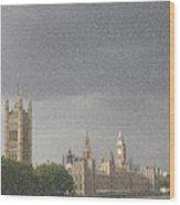 Parliament Blizzard  Wood Print