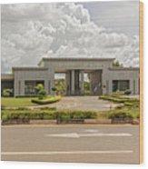 Parliament Building In Lilongwe Wood Print