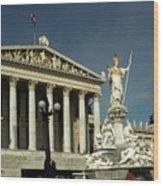Parliament In Vienna Austria Wood Print