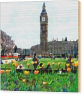 Parliament Square London Wood Print