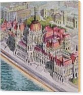 Parliment Of Hungary Wood Print by Charles Hetenyi