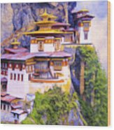 Paro Taktsang Monastery Bhutan Wood Print