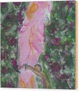 Parrot Amid Bourganvillea Wood Print