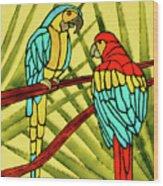 Parrots Wood Print