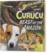 Parson Russell Terrier Art Canvas Print - Curucu  Movie Poster Wood Print