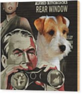Parson Russell Terrier Art Canvas Print - Rear Window Movie Poster Wood Print
