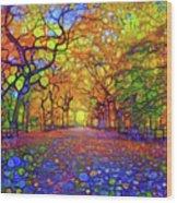 Park In Autumn Wood Print