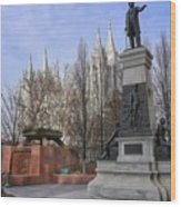Part Of Temple Square Wood Print
