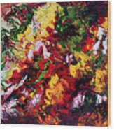 Parterre De Fleurs Wood Print