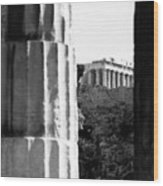 Parthenon From The Temple Of Hephaistos Athens Wood Print by Susan Chandler