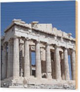Parthenon Front Facade Wood Print by Jane Rix