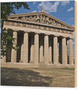 Parthenon Nashville Tennessee From The Shade Wood Print
