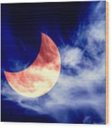 Partial Eclipse Wood Print
