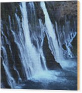 Partial Side View Of Burney Falls Ca Wood Print